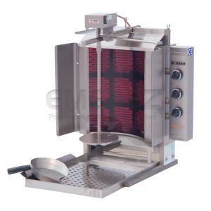Aparat Kebab Electric Motor sus PDE303E - 3 x 3 arzatoare
