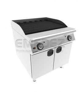 Grătar gaz cu placa striata sistem cu apa cu suport inchis 80x90x85