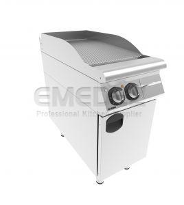 Grătar grill electric cu placa striata si suport inchis 40x90x85