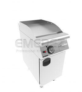Grătar grill gaz cu placa neted si suport inchis 6 kW 40x73x85