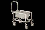 Carucior inox transport faina si zahar 68x56x70