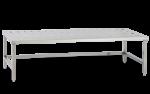 Bancheta inox perforata pentru bagaje/materiale 140x40x57