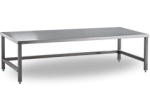 Bancheta inox plina pentru bagaje/materiale 90x40x57
