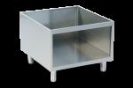 Suport inox fara usi 1 modul 80x89.4x62