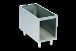 Suport inox fara usi modul 1/2 40x72.4.4x62