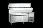 Unitate refrigerata preparare PIZZA 280 litri cu blat Polietilena 140x70x130