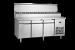 Unitate refrigerata preparare PIZZA 280 litri cu blat marmura fara rebord 140x70x130