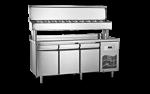 Unitate refrigerata preparare PIZZA 280 litri cu blat INOX 140x70x130
