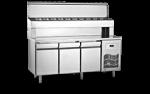 Unitate refrigerata preparare PIZZA 280 litri cu blat marmura 140x70x130