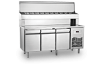 Unitate refrigerata preparare PIZZA 465 litri cu blat marmura 186.5x70x130