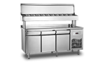 Unitate refrigerata preparare PIZZA 465 litri cu blat INOX  186.5x70x130
